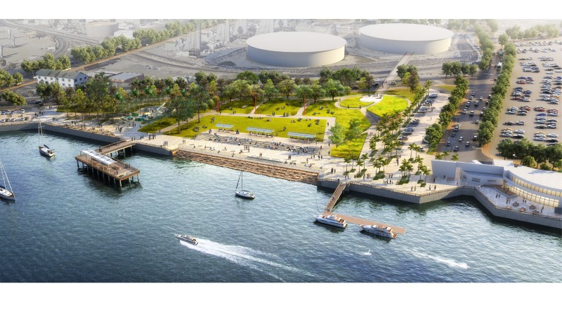 Port of Los Angeles - Wilmington Waterfront Promenade Rendering
