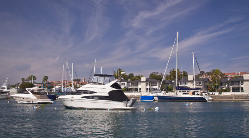 Mooring in Newport Beach harbor