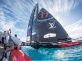 ORACLE TEAM USA in America's Cup Class boat Bermuda