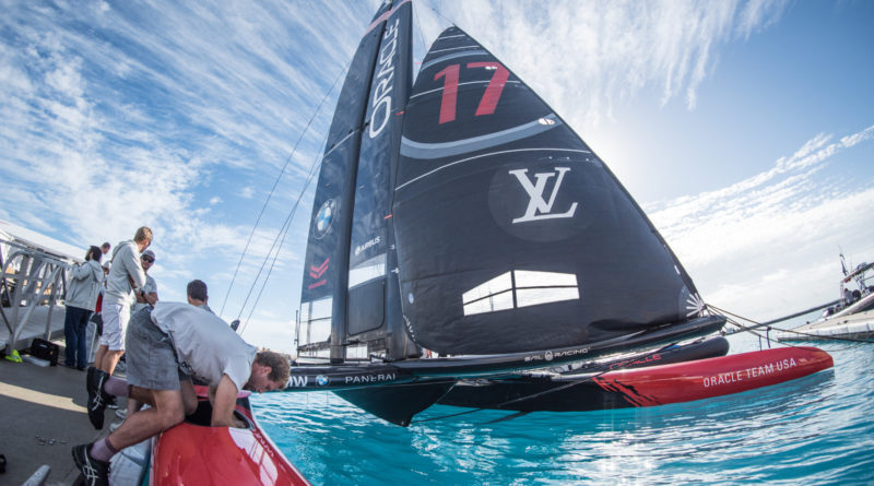 ORACLE TEAM USA in America's Cup Class boat Bermuda