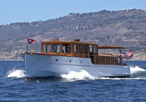 Athena, classic wooden boat