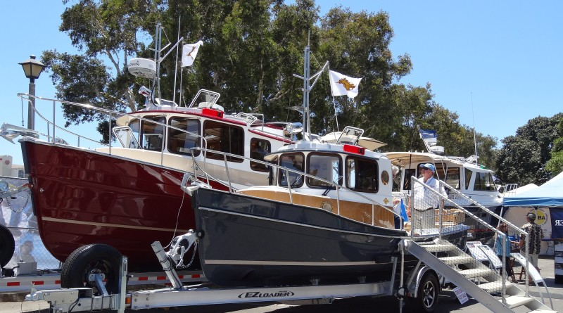 shopping at a boat show