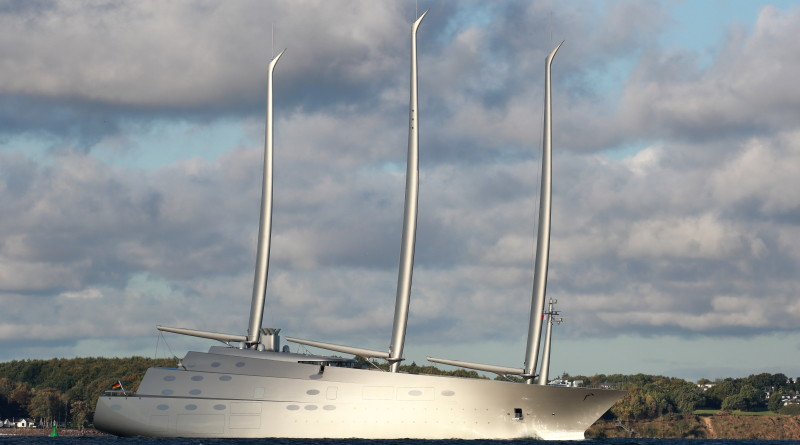 Sailing Yacht A is the tallest yacht in the world