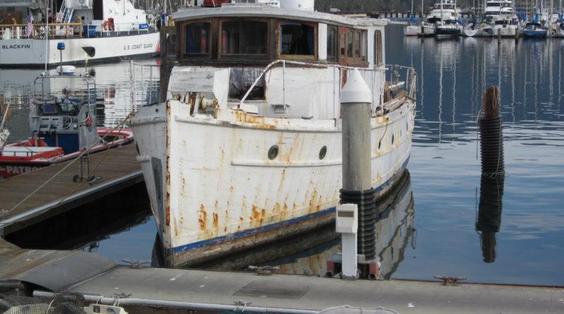 Derelict Vessel in the Santa Barbara harbor