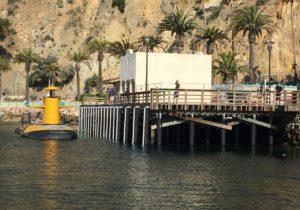 Avalon fuel dock pier on Catalina Island