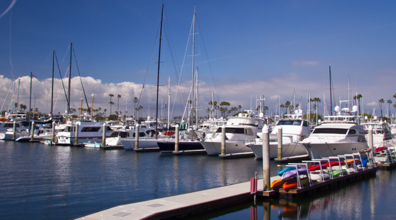 Alamitos Bay Marina concrete docks