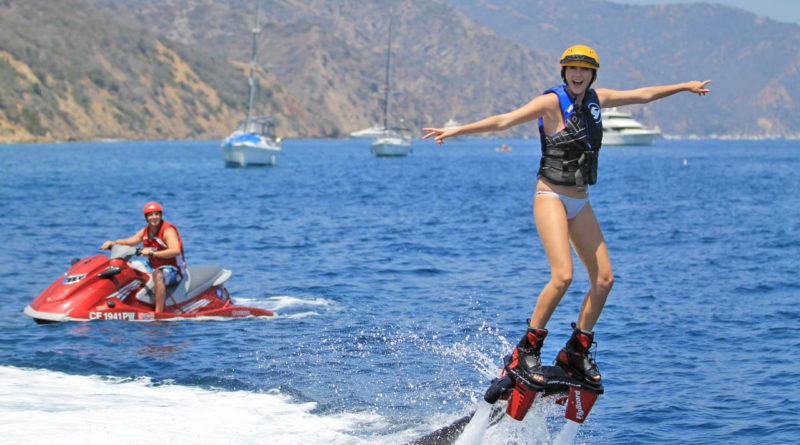 Catalina Island Action Flyboarding
