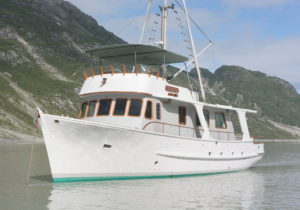 Classic wooden boat Galatea