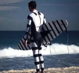 Shark Diverter Surfer wet suit and surfboard