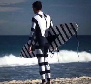 Shark Diverter Surfer wet suit and surfboard