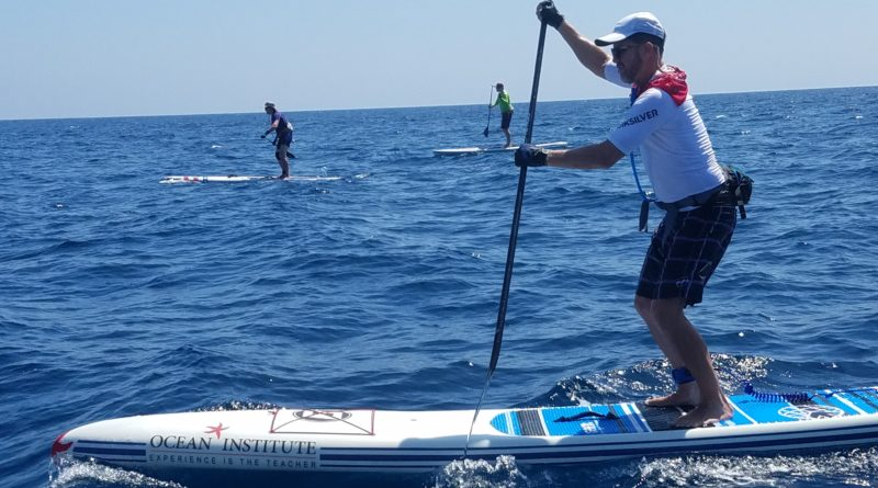 Open ocean standup paddle from Avalon to Dana Point