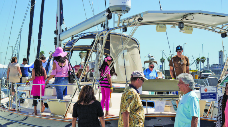 Southern California in-water boat show in San Pedro