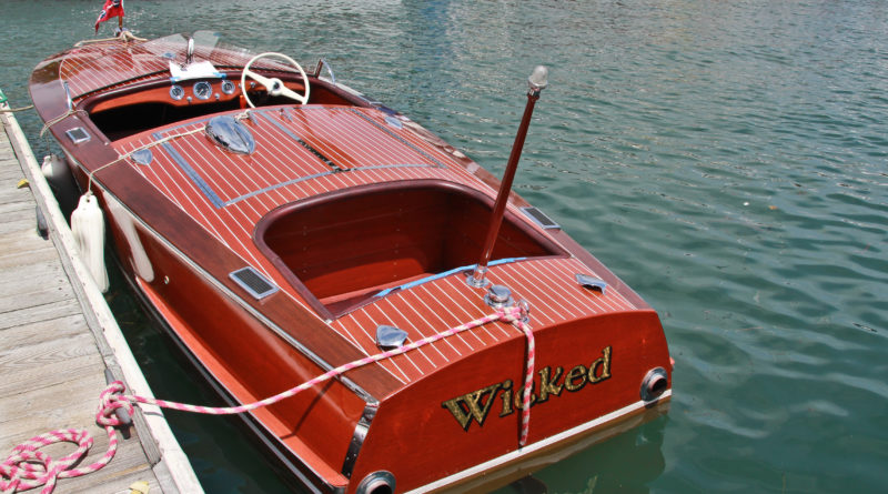 Southern California Classic Chris Craft boat