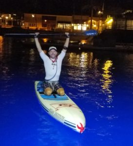 Ron paddling from Avalon in Catalina Island to Dana Point