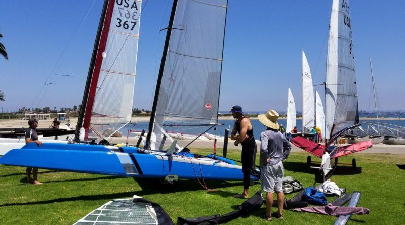 A-Class catamaran sailing race