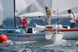 skipper Keith Ives sailing Cal 20