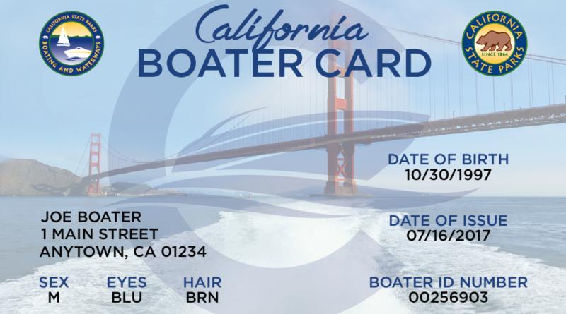 California Boater Education Card