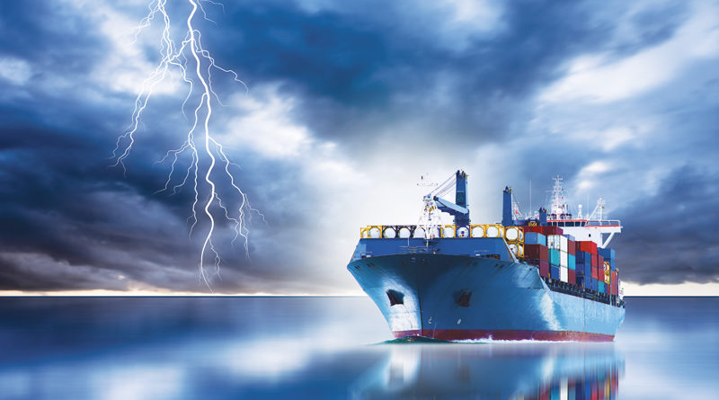 cargo ships create lightening