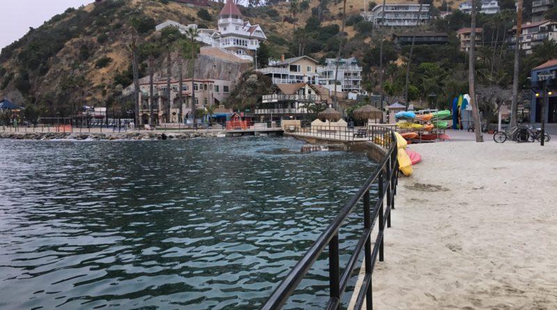 high tide at South Beach Avalon Catalina Island