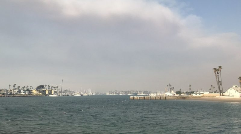 Smoke from Thomas Fires over Ventura Harbor
