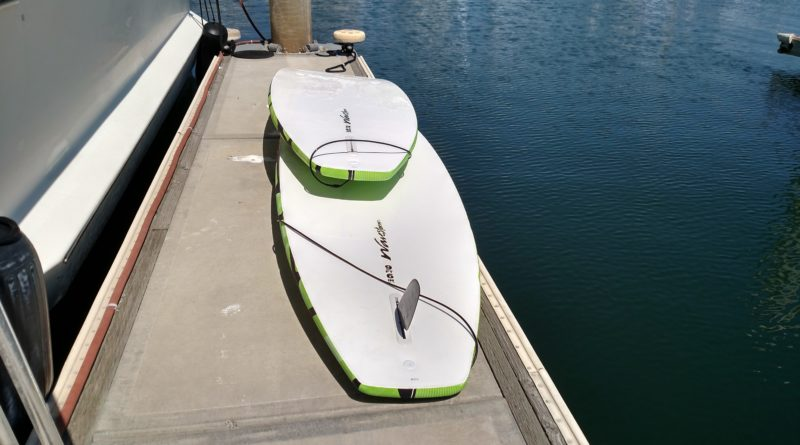 Paddleboards Obscuring Marina Pathway