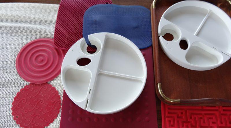 Non-slip eating utensils