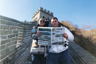 READING BREAK ON THE GREAT WALL