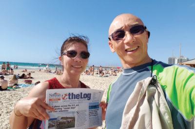 BEACH DAY AT GORDON BEACH IN TEL AVIV