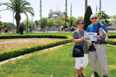 READERS BRING THE LOG TO HISTORIC MOSQUE IN TURKEY