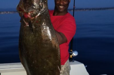 32 lb. Halibut off Oceanside last week on Top Shelf
