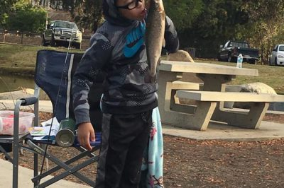 E's first fish