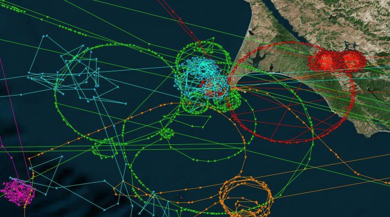 Ship GPS crop circles