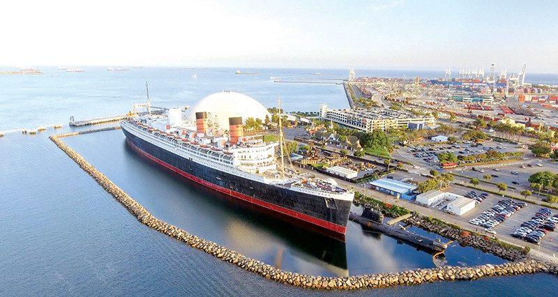 Long Beach Harbor Queen Mary