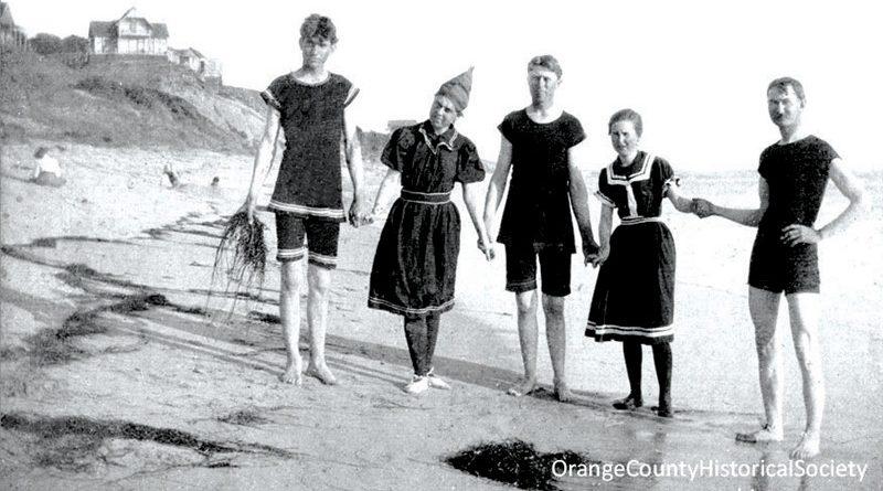 Beachgoers at Laguna in the 1800s